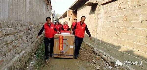沂南大爱沂蒙志愿服务队为残疾困难群众送温暖